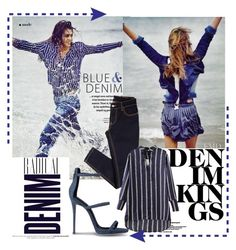"""""""Blue & Denim"""" by yvettemmh ❤ liked on Polyvore featuring Alima and Giuseppe Zanotti"""