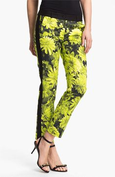 MICHAEL Michael Kors English Garden Skinny Ankle Pants available at #Nordstrom