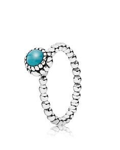 PANDORA Ring - Sterling Silver & Turquoise