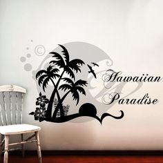 With this Hawaiian Paradise Wall Sticker Decal you can decorate your walls in one of the most modern and elegant ways..