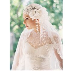 Wedding headpiece bridal cap lace bridal от EricaElizabethDesign