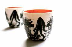 2 'Yowie' Sake/tea cups. $90.00, via Etsy.