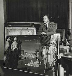 Belgian painter Paul Delvaux, Brussels, 1944 // by Lee Miller