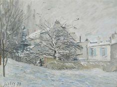 Artwork by Alfred Sisley, LA MAISON SOUS LA NEIGE, Made of Oil on canvas