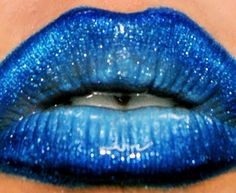 Blue Pearl by Roxanne R. used a blend of Sugarpill's Velocity, Tiara        and Afterparty eyeshadows to get this shimmery blueberry lip.