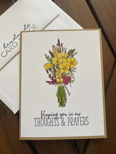 Thoughts and prayers – Mar. 29, 2021 – Endless Creations Rubber Stamps Sympathy Cards, Floral Bouquets, Happy Monday, Stamps, Prayers, Alcohol, Thoughts, Handmade, Flower Bouquets