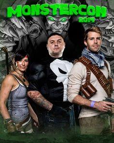 Lara Croft Tomb Raider, The Punisher, and Nathan Drake Cosplay