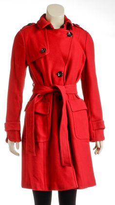 Onquestyle - Banana Republic Red Button Down Belted Coat (Size S), $125.00 (http://www.onquestyle.com/banana-republic-red-button-down-belted-coat-size-s/)
