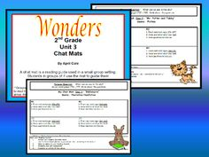 This file contains guided reading pages for 2nd grade WONDERS Unit 3 stories. Use this reading guide in small groups to help children stay focused, organized, and engaged as they read the story. Laminate or slide into a sheet protector