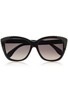 Alexander McQueen Studded cat eye acetate sunglasses   NET-A-PORTER Oeil De  Chat 6d6abc73b16f