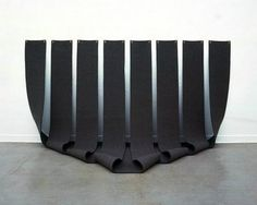 Untitled, 1976, felt by Robert Morris.