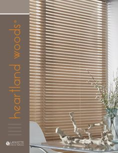 Create a warm and inviting home inspired by nature with the rich, natural look of Heartland Woods® Custom Wood Blinds.