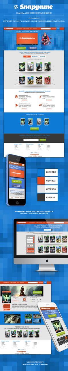 SNAPGAME.it  Scambia videogiochi usati online! #WebDesign #HTML5 #CSS3 #Responsive