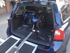My blue Genny in my blue car.