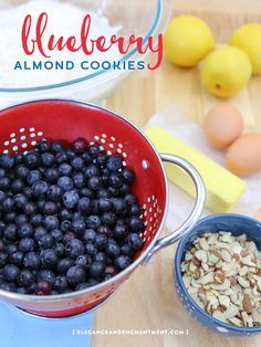 The perfect spring and summer dessert! Blueberry Almond Cookie Recipe using Fresh From Florida Blueberries from Elegance and Enchantment.