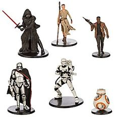 Disney Star Wars: The Force Awakens Figure Play Set | Disney StoreStar Wars: The Force Awakens Figure Play Set - From the adventurous droid BB-8 to the mysterious Kylo Ren, enhance your collection with this set of six highly detailed figurines of the heroes and villains from <i>Star Wars: The Force Awakens.</i>