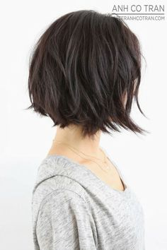dark brown bob – Keira Lennox