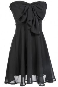 Oversized Bow Chiffon Dress... simple and cute