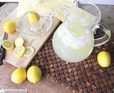 lemonade3 Non Alcoholic Drinks, Cold Drinks, Beverages, Homemade Lemonade Recipes, Plant Paradox, Mickey Mouse Birthday, Stevia, Glass Of Milk, Firetruck