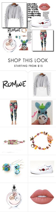"""""""Floral Romwe"""" by nanitas23 ❤ liked on Polyvore featuring Ghibli, Vans, Valentino and Lime Crime"""