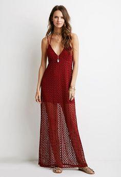 Crochet Halter Maxi Dress | Forever 21 - 2000115124