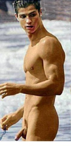 nudemalecelebrities:  Cristiano Ronaldo naked at the beach and showing his dick See Tons of Famous Male Athletes Nude Here