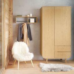 Scaffale da parete in legno di quercia | Maisons du Monde