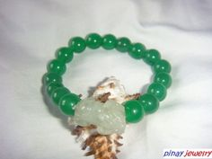 Chinese Jade Pi Yao Stretch Bracelet for Protection and Luck