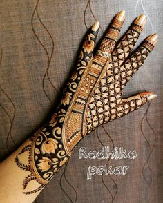 Floral Henna Designs, Back Hand Mehndi Designs, Henna Art Designs, Stylish Mehndi Designs, Dulhan Mehndi Designs, Mehndi Designs For Fingers, Wedding Mehndi Designs, Mehndi Design Pictures, Best Mehndi Designs