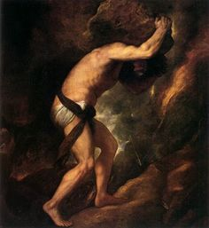 Sisyphus painting - Oh my old friend Sisyphus how I totally relate!