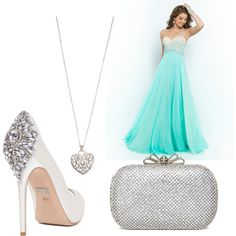 Prom by henika-hena on Polyvore featuring polyvore fashion style Blush Prom Badgley Mischka Accessorize