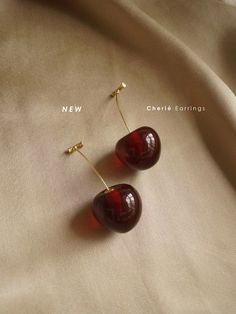 Jewelry Accessories – Cherié (Cherry) Earrings * Gold Plated Stems … - Famous Last Words Cute Jewelry, Gold Jewelry, Jewelry Accessories, Fashion Accessories, Fashion Jewelry, Jewlery, Jewelry Findings, Cartier Jewelry, Wedding Accessories