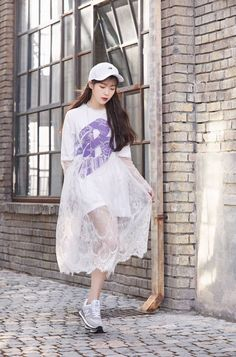 Korean Fashion – How to Dress up Korean Style – Designer Fashion Tips Iu Fashion, Korean Fashion, Fashion Dresses, Fashion Design, Global Brands, Korean Actresses, Casual Street Style, Queen, Kpop Girls