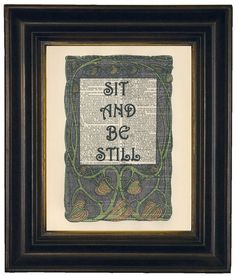 Meditation Sit And Be Still Wall Quote by HangWithUsToday on Etsy