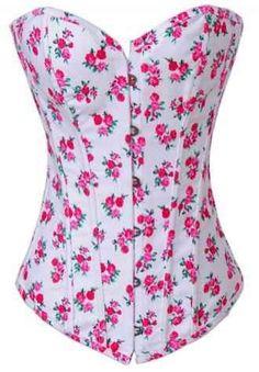 ¡Uno de los modelos más dulces y floreados! El Corsé Floral Fantasía tiene todas las cualidades para ser el corsé más seductor.