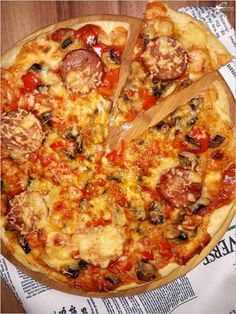 Na obiad, na imprezę. Prosta i szybka a la pizza na cienkim cieście. B Food, Food Porn, Naan, Healthy Chicken, Vegetable Pizza, Quiche, Food And Drink, Cooking Recipes, Snacks