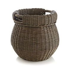 Hooper Basket - next to sofa back table for throw blankets