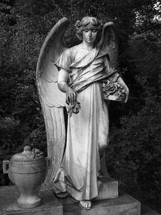 Cemetery Angel by Cemetery Angels, Cemetery Statues, Cemetery Art, Angel Statues, Highgate Cemetery, Statue Ange, Old Cemeteries, Graveyards, Dark Side