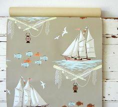 adorable vintage wallpaper #sailing #nautical