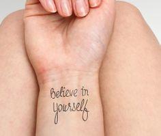 First - temporary tattoo $5   #tattoo #tattoos #temporarytattoo #tattify #ink #temporarytattoos #quote #quotes #believe