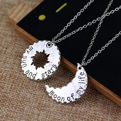 10 Sets/Lot His&Hers Khal/Khaleesi Necklace Game Of Thrones Necklace Moon Of My Life My Sun Stars Pendant Necklace For Lovers Game Of Thrones Necklace, Game Of Thrones Set, Khal And Khaleesi, Game Of Thrones Khaleesi, Khal Drogo, Daenerys, Couple Necklaces, Couple Jewelry, Game Of Thrones