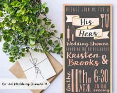 Hey, I found this really awesome Etsy listing at https://www.etsy.com/listing/268239509/couples-co-ed-wedding-shower-invitation