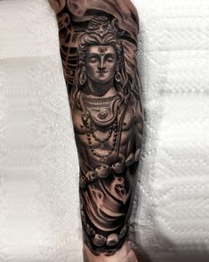 60 Shiva Tattoo Designs For Men – Hinduism Ink Ideas - Tattoo Krishna Tattoo, Kali Tattoo, Shiva Tattoo Design, Forearm Tattoo Design, Buddha Tattoos, Hindu Tattoos, Trendy Tattoos, Unique Tattoos, Tattoos For Guys