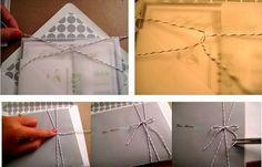 How to tie ribbon/twine around your invites
