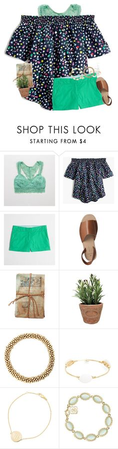"""No, Polyvore. I don't want to review!"" by mac-moses ❤ liked on Polyvore featuring Aerie, J.Crew, Pieces, GO Home Ltd., Esschert Design, Bourbon and Boweties, Sarah Chloe and Kendra Scott"