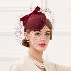 Wool Net Headpiece-Wedding Special Occasion Casual Office & Career Fascinators Hats Birdcage Veils 1 Piece – CAD $ 69.79