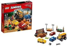 LEGO Juniors Disney Cars 3 Thunder Hollow Crazy 8 Race 10744 for sale online Lego Disney, Disney Pixar Cars, Disney Toys, Lightning Mcqueen, Lego Junior Sets, Legos, Minions, Cruz Ramirez, Lego Space Sets