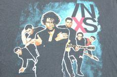 Vintage 1990 INXS Concert Tour Black T Shirt XL
