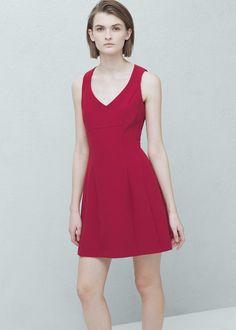 Mango cherry-red dress
