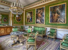 Versailles, Room Decorated in the Empire Style. Jacob Desmalter Seating. Paris ca.1815
